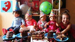 День Рождения Куклы Лизы. Праздник с друзьями, тортом, свечами и фейерверками(День рождения Куклы Лизы Reborn silicone baby doll. В гости пришли друзья Куклы Baby born. Отмечаем день рождения Куклы..., 2017-03-04T09:44:49.000Z)