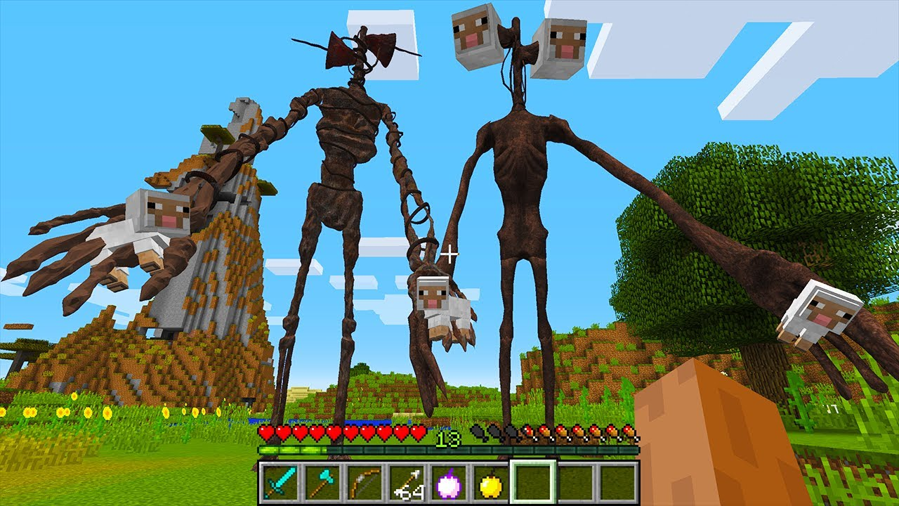 CURSED MINECRAFT BUT IT'S UNLUCKY LUCKY FUNNY MOMENTS I found a REAL Sirenhead in Minecraft!