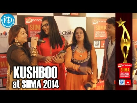 Actress Kushboo about her Daughter @ SIIMA 2014, Malaysia
