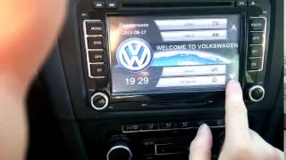 2DIN 7 Autoradio VW / Seat / Skoda. GPS / USB / DVD / BT