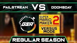 Failstream vs Doomsday   Regular Season   GSA SMM2 Versus Mode Speedrun League Season 3