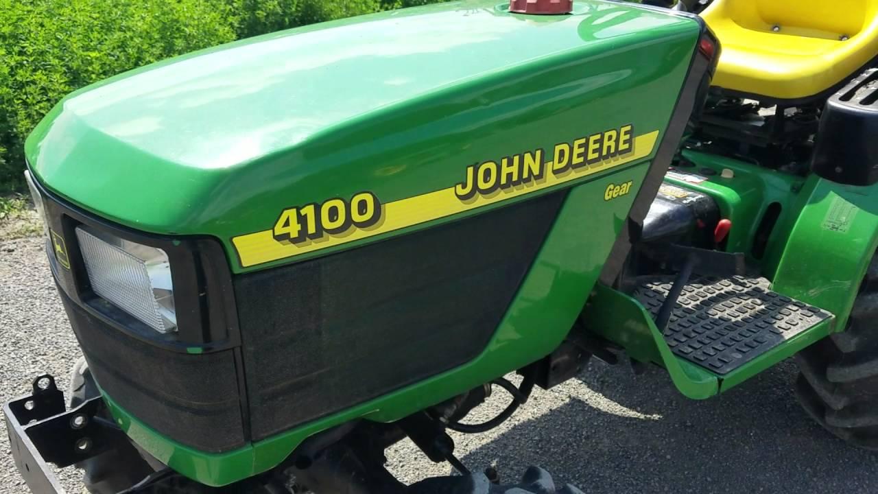 2000 john deere 4100 tractor 4x5 ag farm lawn garden for sale 1st person video  [ 1280 x 720 Pixel ]