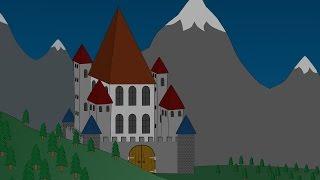 Заброшенный замок на холме.