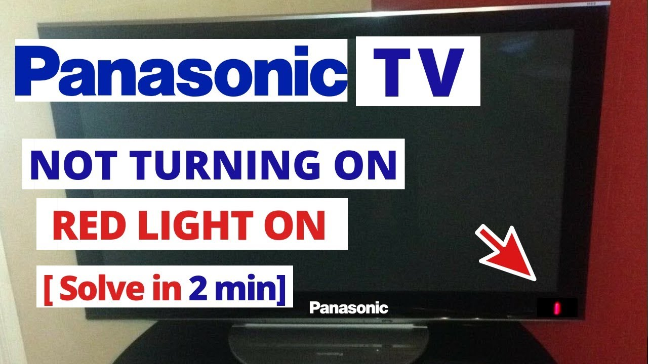 How to Fix Panasonic Smart TV Won't Turn On || Quick Solve in 2 minutes