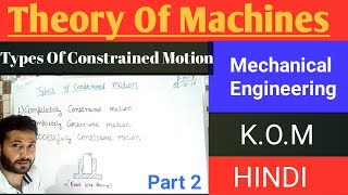 2) Types of Constrained Motion - Kom (T.O.M) || Mechanical Engineering - Hindi