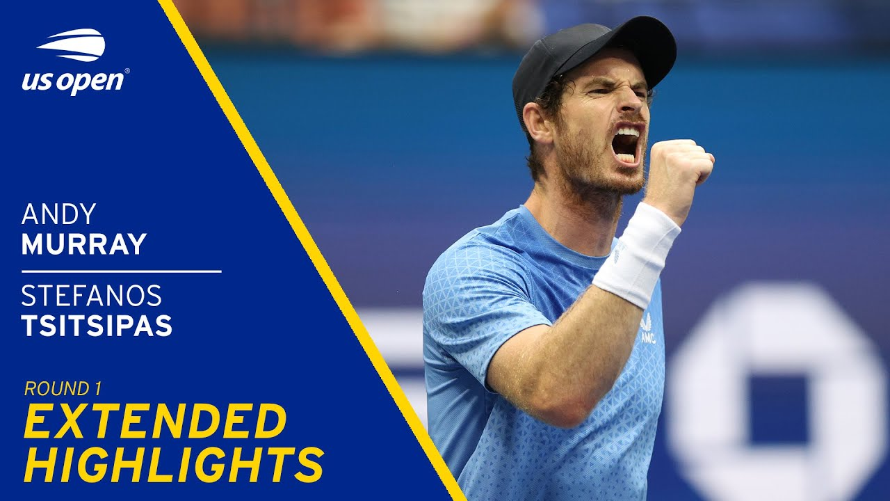 Download Andy Murray vs Stefanos Tsitsipas Extended Highlights   2021 US Open Round 1