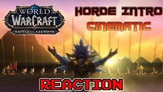 KRIMSON KB REACTS: Horde Intro Cinematic - Battle for Azeroth (Live Reaction)
