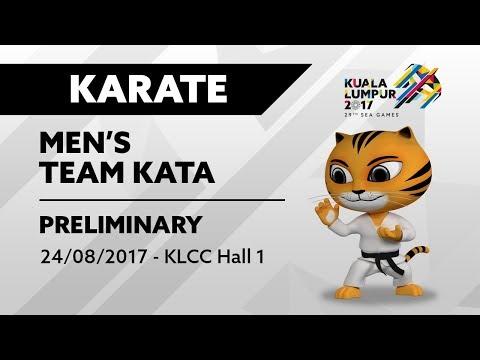 KL2017 29th SEA Games   Karate - Men's Team Kata PRELIMINARY   24/08/2017