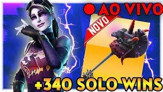 FORTNITE | NOVA SKIN! | DARK BOMBER + THUNDER CRASH | +340 SOLO WINS | LIVESTREAM