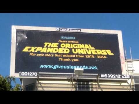 The Star Wars Expanded Universe Billboard Project is finally  here