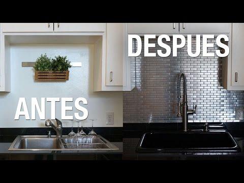 Transformamos nuestra cocina diy superholly youtube - Panel antisalpicaduras cocina ...