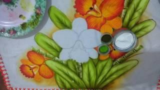 Como pintar orquídea com Lia Ribeiro