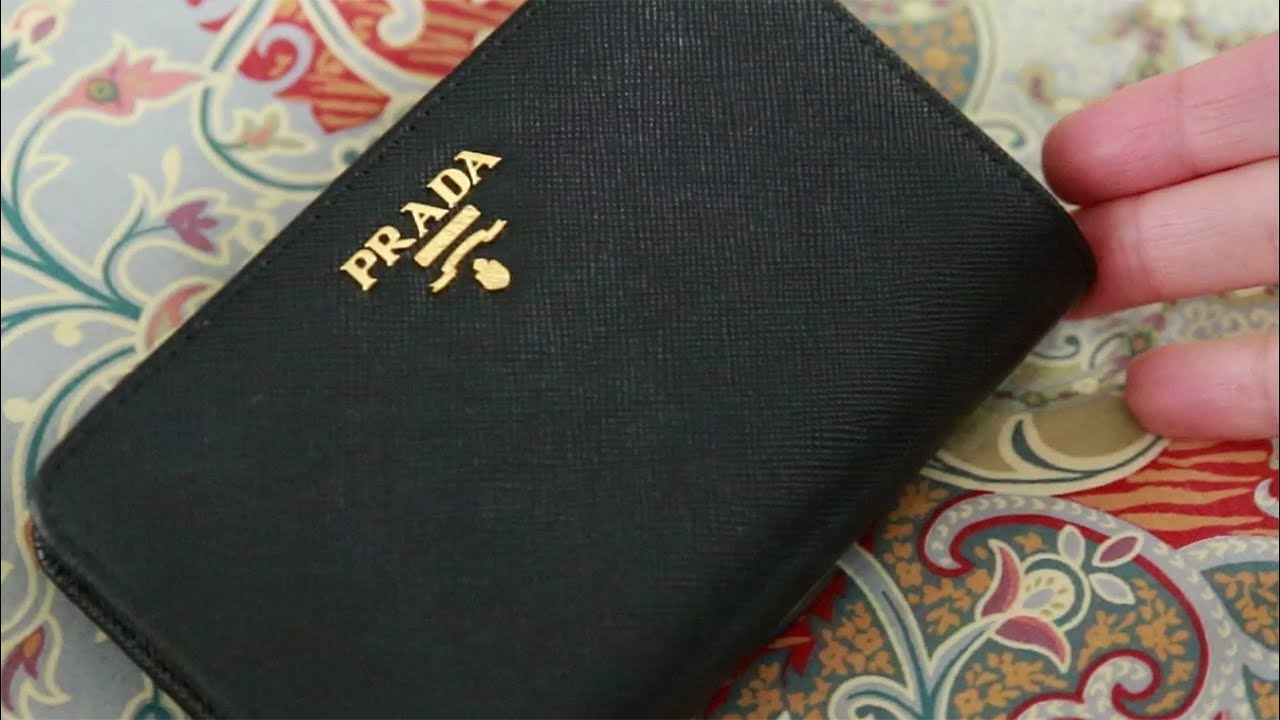 e18c45755aaa Prada Bi-Fold Tab Wallet Review - YouTube