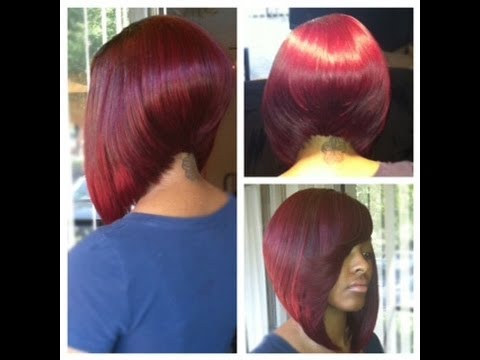 celebrity style sew in weave extension bob cuts youtube
