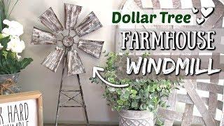 DIY Dollar Tree Farmhouse Decor | DIY Farmhouse Windmill | Krafts by Katelyn