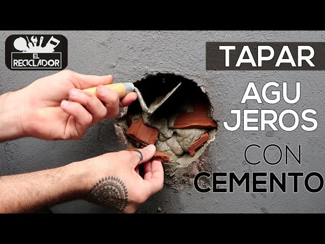 201 Tapar Agujeros En Pared Con Cemento Youtube