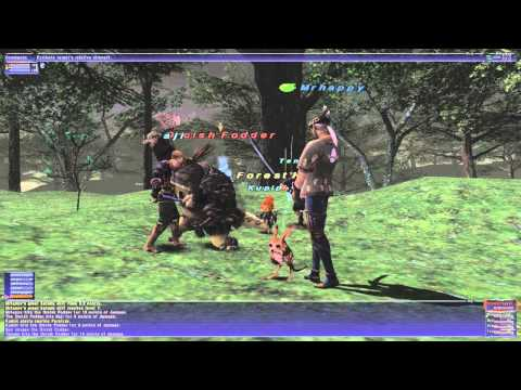 Lets Play FFXI Part 23 - Jaggedy Eared-Jack/Samurai Leveling
