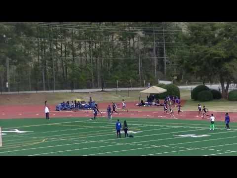 Chamblee Middle School A Girls 51.19s 4x100m Prelim 4 Dekalb County Championship 2017