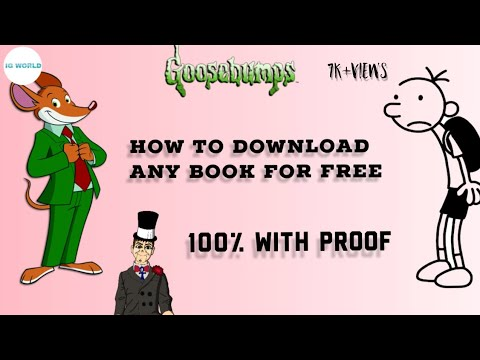 How To Download Any Book For Free (Geronimo Stilton ,Goosebumps, Wimpy Kid)