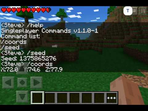Mineceaft Pocket Edition Chat Commands!!! - YouTube