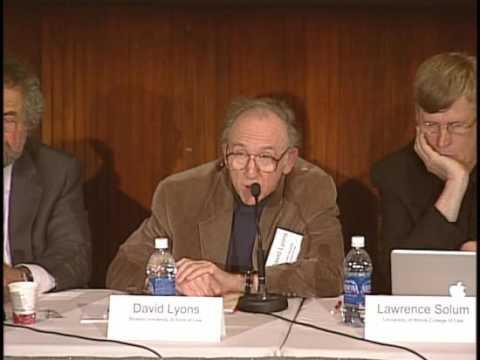 Justice for Hedgehogs: Professor David Lyons
