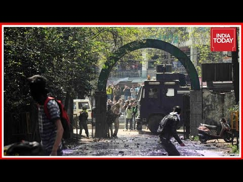 SP College Students Clash With Police In Srinagar