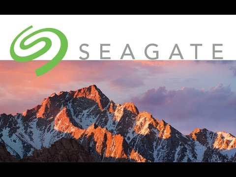 Seagate external hard drive how to set up on Mac - macOS Sierra