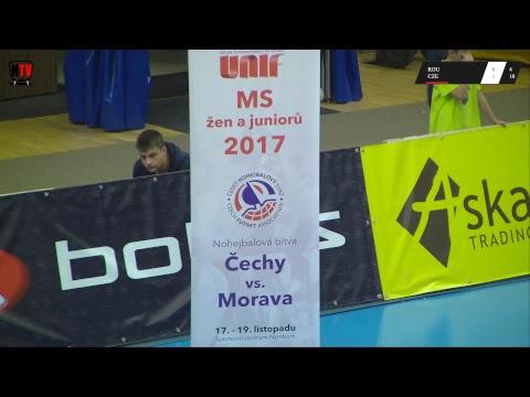 MS nohejbalu žen Nymburk 2017 - zápas o 3. místo singlu