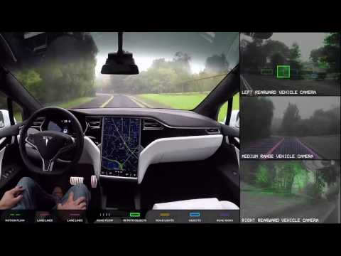 Tesla Autopilot 2.0 (Camera View) - Level 5 Autonomy. Full Self-Driving Hardware