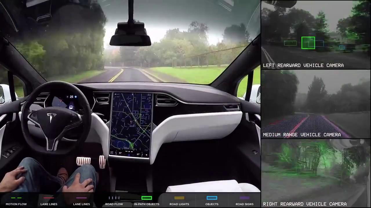 Tesla Car Self Driving Car