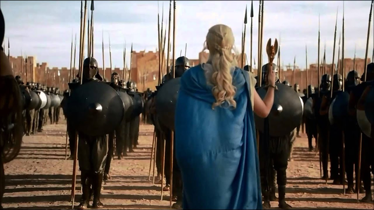 Epic Dragon Scene Game of Thrones Season 3 Daenerys ...