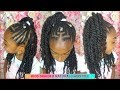 GIRLS CORNROWS & TWISTS HAIR TUTORIAL | KIDS NATURAL HAIRSTYLES