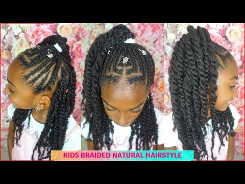 Girls Cornrows Twists Hair Tutorial Kids Natural Hairstyles