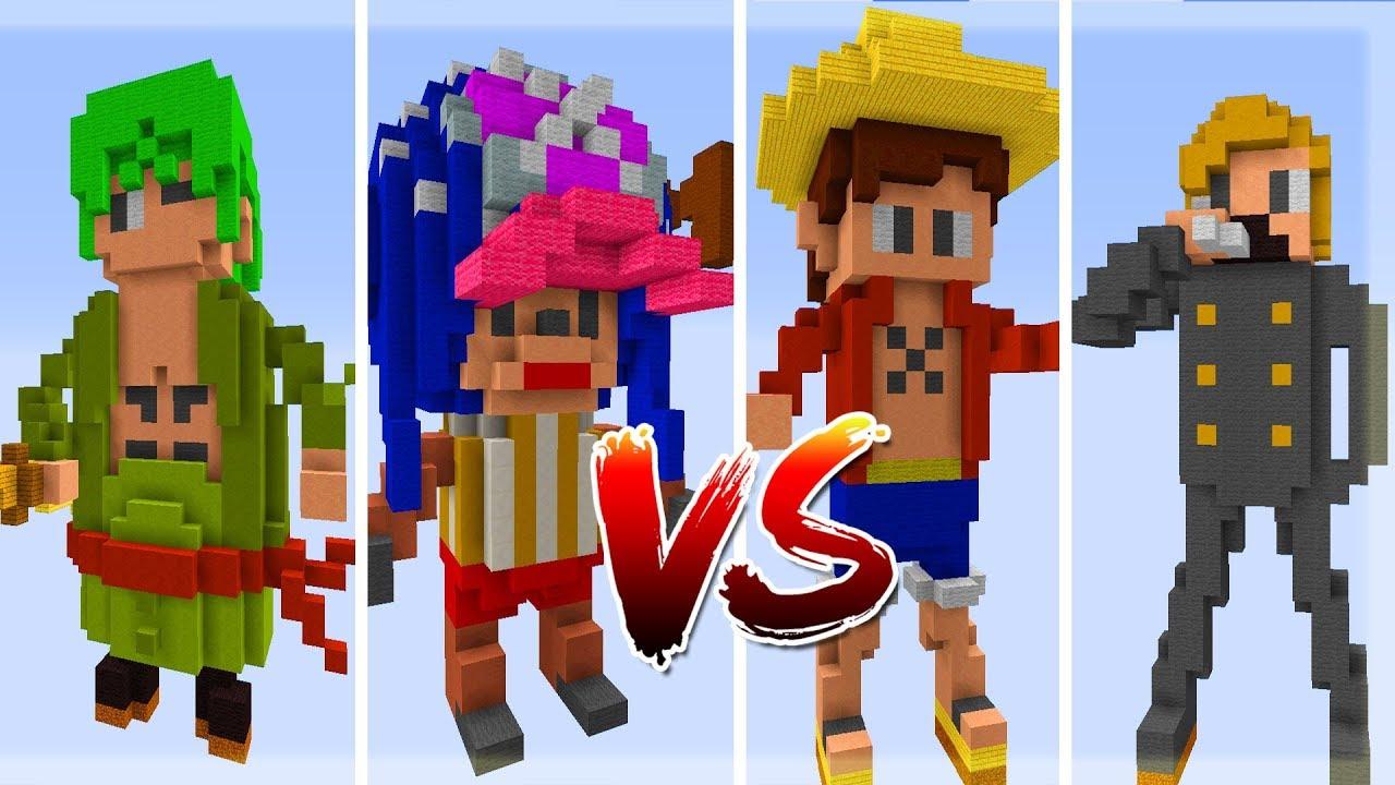 Thử Thách Làm LUFFY ONE PIECE Trong Minecraft (Minecraft)