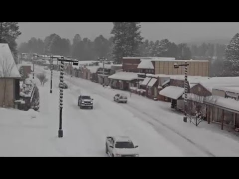 Ruidoso New Mexico Snow December 27 2015