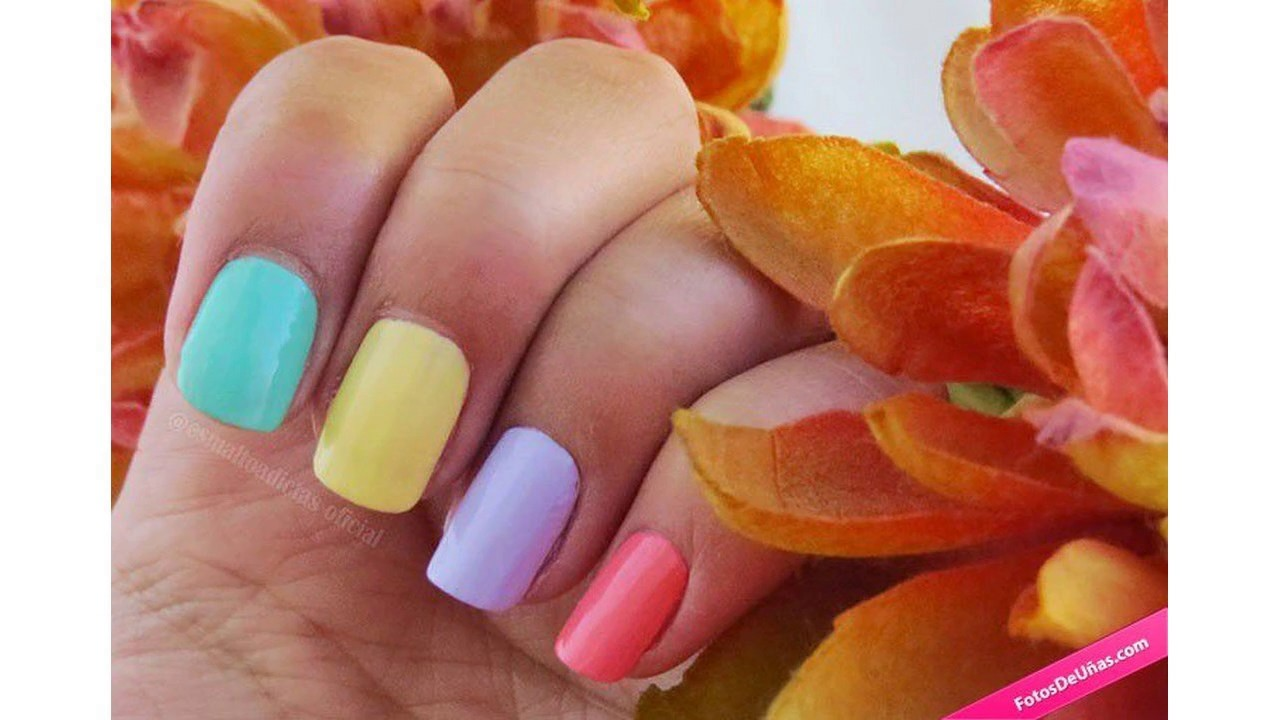 Ideas De Uñas Decoradas Con Colores Pasteles Youtube