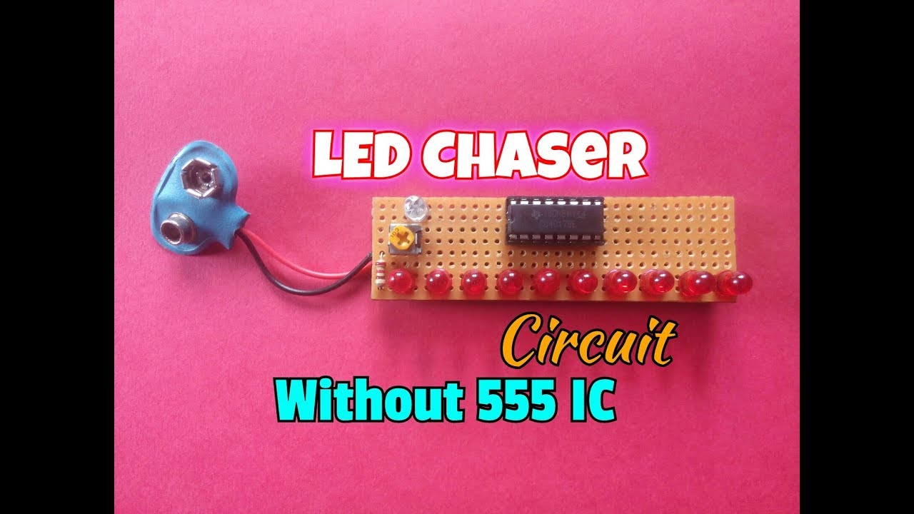 Led Chaser Circuit Without Using 555 Ic Only 4017 Youtube On 3 Diagram