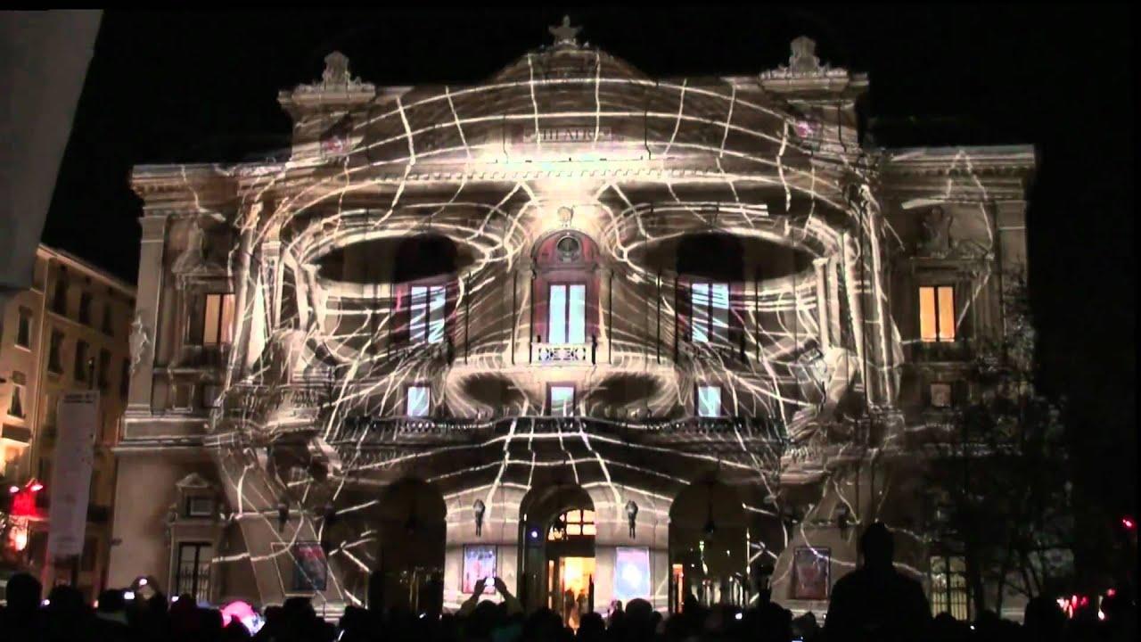 Fête Des Lumières Festival Of Lights 2010 Lyon France