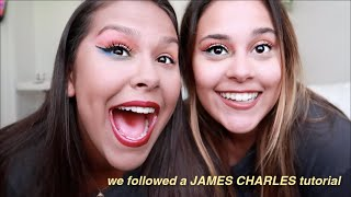 we tried following a JAMES CHARLES makeup tutorial (fail)