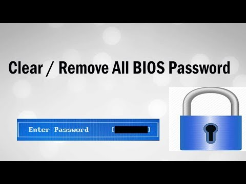 How To Clear / Remove All BIOS Password ! Easy Steps & Works