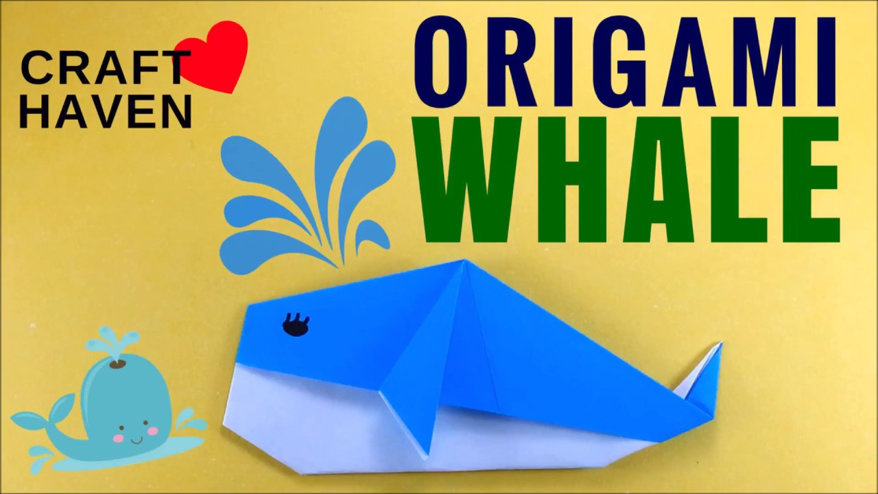 How to make cute and easy origami whale diy easy origami for how to make cute and easy origami whale diy easy origami for beginners origami animal craft haven jeuxipadfo Gallery