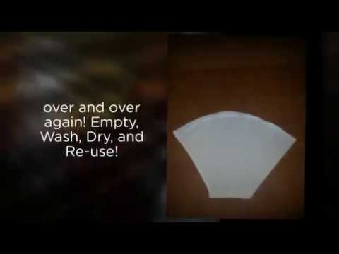 ▶ Re-useable Fabric Coffee Filters, Snack Bags, and Cold Brewed Coffee Bags