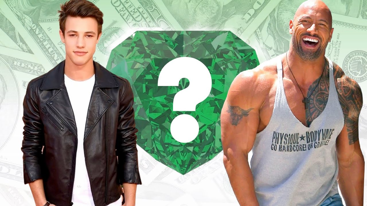 """WHO'S RICHER? - Cameron Dallas or Dwayne """"The Rock"""" Johnson? - Net Worth  Revealed!"""