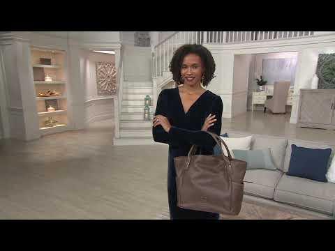 Dooney & Bourke Florentine Leather Kristen Tote on QVC