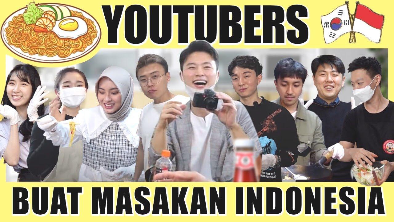 Youtubers Korea Berkumpul Untuk Memasak Makanan Indonesia & Membagikannya Untuk WNI di Korea
