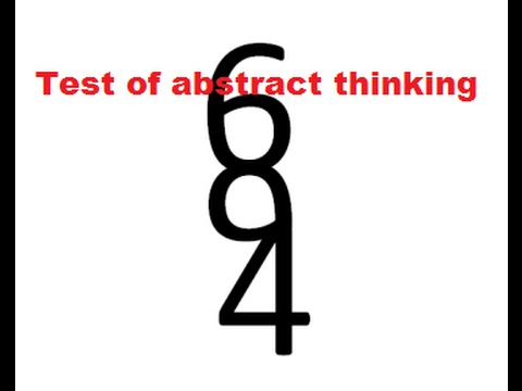 Abstract thinking test: How many numbers can you see?