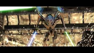 Star Wars Obi Wan vs Grievous But every time their lightsabers clash Obi Wan says hello there
