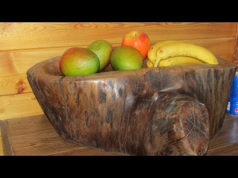 DIY carve a bowl, wood carving with power tools