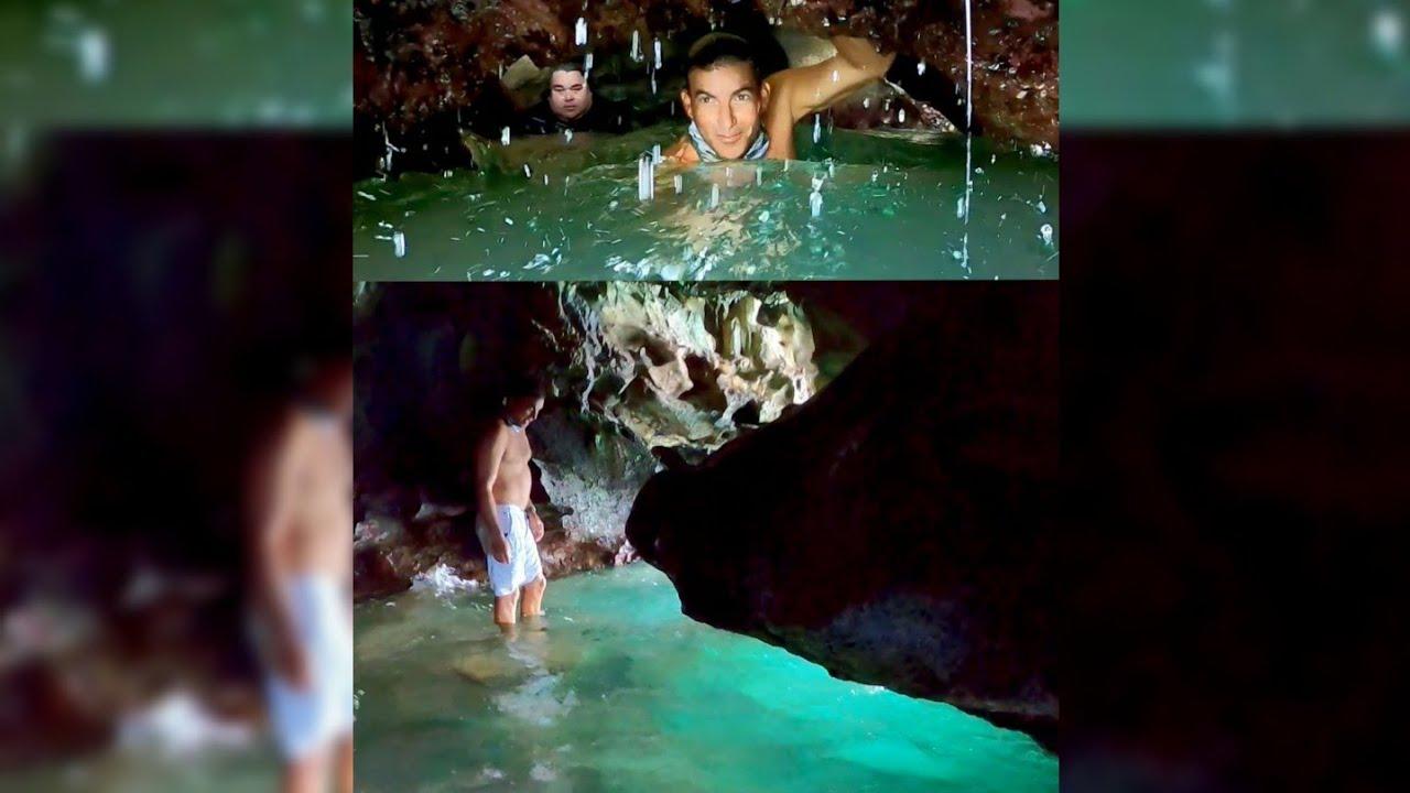 [Primicia 🚫] Entras por el Roto que Escupe 😱 a Paraíso de Jacuzzis Fosforesentes 💚 Dentro de Cuevas