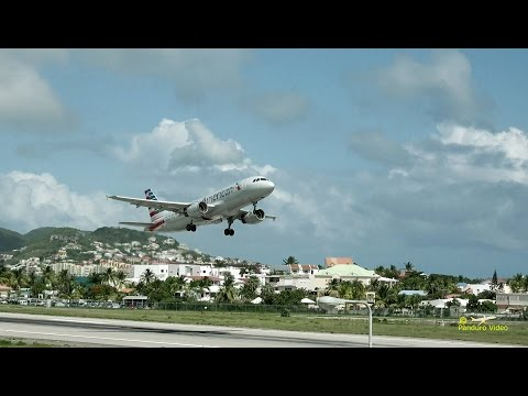 4K | St Maarten Amazing Plane landing and Takeoff footage at Princess Juliana Airport #17